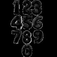 """Фольгированная цифра """"Черная"""""""