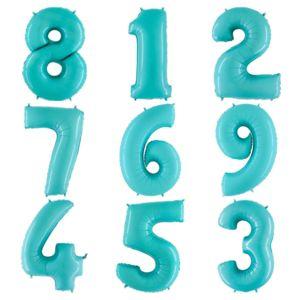 """Фольгированная цифра """"Голубая"""""""