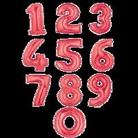 """Фольгированная цифра """"Красная"""""""