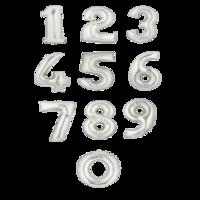 """Фольгированная цифра """"Серебро"""""""