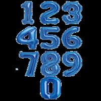 """Фольгированная цифра """"Синяя"""""""