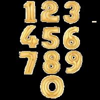 """Фольгированная цифра """"Золотая"""""""