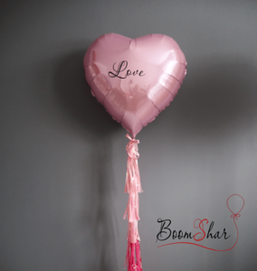 """Фольгированное сердце """"Rose Love"""""""