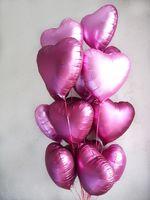 """Фольгированные сердца """"Оттенки розового"""""""