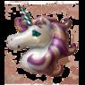 Фольгированный Единорог Сиреневый
