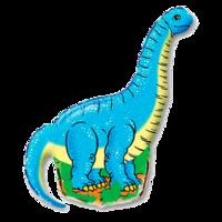 Фольгированная фигура Динозавр голубой