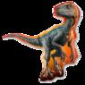 Фольгированная фигура Динозавр Парк Юрского Периода
