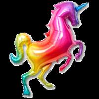 Фольгированная фигура Единорог радужный