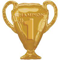 Фольгированная фигура Кубок чемпиона золотой