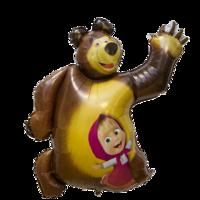 """Фольгированная фигура """"Маша и Медведь"""""""