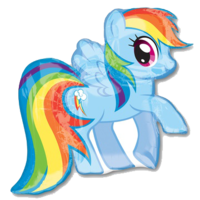 """Фольгированная фигура """"Радуга Дэш/Rainbow Dash"""""""