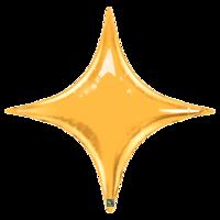 Фольгированная звезда 4х-конечная Золотая