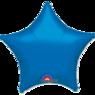 Фольгированная звезда Металлик Голубая