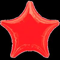 Фольгированная звезда Металлик Красная