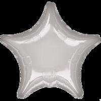 Фольгированная звезда Металлик Серебряная
