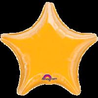 Фольгированная звезда Металлик Жёлтая
