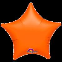 Фольгированная звезда Металлик Оранжевая
