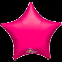 Фольгированная звезда Металлик Фуксия