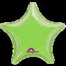 Фольгированная звезда Металлик Лаймовая