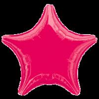 Фольгированная звезда Металлик Бордовая