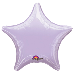 Фольгированная звезда Пастель Сиреневая