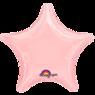 Фольгированная звезда Пастель Розовая