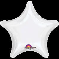 Фольгированная звезда Пастель Белая