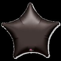 Фольгированная звезда Пастель Черная