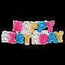 """Разноцветная Надпись из шаров """"Happy Birthday"""""""