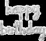 """Серебряная надпись из шаров """"Happy Birthday"""""""