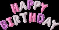 """Цветная надпись из шаров """"Happy Birthday"""""""