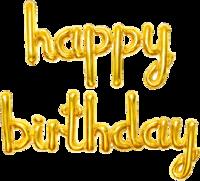 """Золотая надпись из шаров """"Happy Birthday"""""""