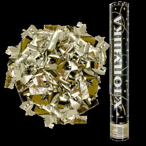 Хлопушка - золотистые прямоугольники - 40 см