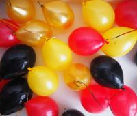 Золотые, черные, желтые и красные шары - 25 шт